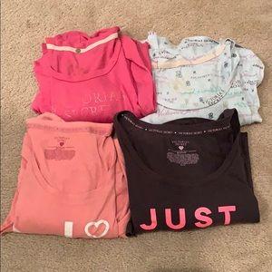 4 Victoria's Secret Long Sleeve Sleep Shirts